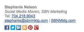 email signature for social media maven stephanie nelson seo