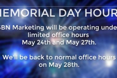 SBN Marketing 2019 Holiday Hours